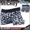 ボクサーパンツ  メンズ ディズニー MICKEY MOUSE ミッキーマウス 18A 総柄 グレーベース