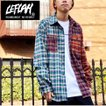 【LEFLAH】multicolor checked shirts (グリーン)