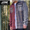【LEFLAH】multicolor checked shirts (レッド)