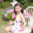 子供水着 ワンピース キャップ付き 女の子 キッズ 韓国子供服 2点セット 親子ペアルック