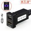トヨタ USB&HDMI入力ポート スマホ 音楽 車 usb 増設 トヨタ車系用 スズキ ダイハツ Aタイプ 33x22.5mm ポイント消化