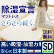 除湿宣言マットレス セミダブル BMVS4451 IV テイジン TEIJIN ベルオアシス 三つ折り 寝具 国産 日本製 消臭