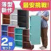 (2個セット)  カラーボックス 3段 ECX-3 ラック 収納ラック 収納家具 本棚  棚 アイリスオーヤマ