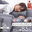 羽毛布団 ダブル ロング 掛け布団 冬 暖かい 羽毛ふとん 日本製 ホワイトダックダウン85% 1.4kg