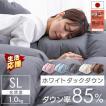 羽毛布団 シングル ロング 掛け布団 冬 暖かい 羽毛ふとん ホワイトダックダウン90% 日本製 抗菌 7年保証