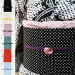 洗える 帯揚げ帯締めセット 3点セット 選べる6色 レースの帯揚 三分紐 硝子の帯留め 夏着物 浴衣に最適です 色が揃っているので便利!ags31011