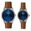 スイスミリタリー ペア腕時計 ML420&ML421 プリモ ブルー×ブラウンレザー (長期保証5年付)
