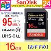 SDカード Extreme Pro SDHC カード 16GB class10 SanDisk サンディスク 超高速95MB/秒 パッケージ品