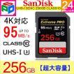 SDカード  Extreme Pro  UHS-I  U3 SDXC カード 256GB  class10 SanDisk サンディスク 超高速95MB/s V30 4K Ultra HD対応  パッケージ品