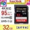 SDカード  Extreme Pro  SDHC カード 32GB  class10 SanDisk サンディスク 超高速95MB/s V30 4K Ultra HD対応 パッケージ品 クロネコDM便送料無料