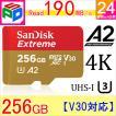 microSDXC 256GB SanDisk UHS-I U3 V30 A2 Class10 R:160MB/s W:90MB/s 海外向けパッケージ品 SATF256NA-QXA1 ゆうパケット送料無料 5のつく日セール