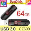 USBメモリー 64GB SanDisk サンディスク Cruzer Glide USB3.0対応 超高速 パッケージ品