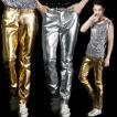 ダンスパンツ メンズ 演出服 スプライス ロングパンツ キラキラ ヒップホップ ダンスウェア 練習着 男性 ロック風 ステージ 舞台服 ボトムス