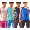 スパンコール ステージ衣装 メンズ タンクトップ ヒップホップ 演出服 ロック風 Tシャツ ダンスウェア 個性 トップス ジャズダンス