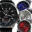 自動巻き腕時計 メンズ腕時計 デイト 日付カレンダー付き レザーベルト 男性用 WINNER ウィナー BCG21