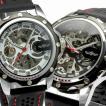 自動巻き腕時計 メンズ腕時計 フルスケルトン ラバーベルト 男性用 WINNER ウィナー BCG96