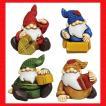 『クリスマス』レジン製の置物/プレゼントサンタS(アソート4Pセット)