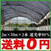 遮光ネット 黒 2m×50m×2本セット 遮光率90% 農業用遮光ネット [農業資材 農業用品 園芸用品 日よけ 農業用ネット]