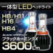 高出力LEDヘッドライト H8/H11/H16/HB4(9006)  30W 3600Lm 『ブラックホーミングX』