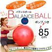 バランスボール 85cm イス エクササイズ ヨガボール ボディボール フィットネス 全身運動 トレーニング 健康運動 レッド 送料無料