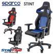 スパルコ ゲーミングチェア STINT オフィスチェア リクライニング バケットシート 座椅子 耐荷重100kg Sparco