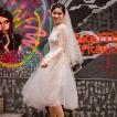 ウエディングミニドレス オフホワイト 安い 結婚式 ワンピース 発表会 演奏会 披露宴 ミニドレス パーティードレス 二次会  花嫁 お呼ばれドレス 大きいサイズ