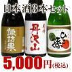 送料無料 5,000円ポッキリ ド燗酒セット 720ml×各3本 化粧箱入り 純米酒3本