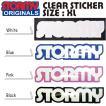 STORMY Original Sticker(XL)クリアー(ストーミー ステッカー)