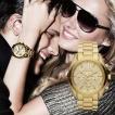 取り寄せ Michael Kors/マイケルコース 腕時計MK5605 RUNWAY ゴールドクロノグラフウォッチ レディース