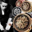 腕時計 メンズ レディース 送料無料 全3色 スワロフスキー スピナー ジュエリー 腕時計 BOX 保証書付 くるくる  回転 くるくる時計  0125 0825