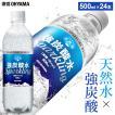 炭酸水 強炭酸 500ml 24本 天然水 水 国産 まとめ買い ペットボトル アイリスの天然水 強炭酸水500ml アイリスオーヤマ (D) 代引不可