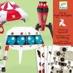 DJECO ジェコ ペーパートイ スペースクラフト DJ09670 知育玩具