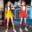 キッズ ダンス衣装 ヒップホップ チアガール 子供  HIPHOP  女の子 ガールズ チア スカート キラキラ  セットアップ ジャズダンス 応援団 ステージ衣装