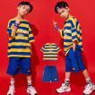 キッズ ダンス衣装  HIPHOP ヒップホップ チア 子供 男の子 セットアップ Tシャツ パンツ ジャズダンス ステージ衣装 運動会 演出服 練習着