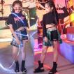 キッズ ダンス衣装 ジャズダンス ヒップホップ HIPHOP チア チアガール ダンストップス  Tシャツ スカート 女の子 ステージ衣装 JAZZ 応援団 練習着