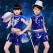 スパンコール衣装 キッズ 派手 ダンス衣装 レディース スパンコール キッズダンス 衣装 セットアップ スカート ダンス衣装キッズ キラキラ