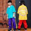 キッズ ダンス衣装 ヒップホップ  HIPHOP ダンスパンツ ショートパンツ Tシャツ  子供  男の子 女の子 団体 ステージ衣装 体操服 練習着