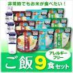 備蓄 非常用 アルファ米 乾燥米 アレルギーフリー ご飯9食セット【1-3日出荷可能】/非常食セット