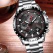 腕時計 メンズ クロノグラフ 1年保証 メンズ 腕時計 カレンダー クロノグラフ搭載 42mm ミディアムフェイス 腕時計 ブラック