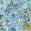リバティプリント タナローン生地 『Margaret Annie マーガレット・アニー』ブルー(サンドウ限定復刻色)(3631165/11B)