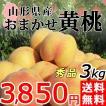 黄桃 3kg 送料無料 秀品 山形県産 桃 もも 黄金桃 産地直送