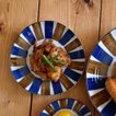 三角取り皿 青茶サビ十草 和食器 お皿 ケーキ皿 中皿 菓子皿 銘々皿 和食器 日本製 美濃焼 おもてなし おうちごはん 取り皿