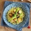 ボウル 藍染小花 和食器 パスタ皿 カレーボウル   大鉢 大皿 おしゃれ 日本製 美濃焼 おもてなし 花柄 かわいい マルチボウル
