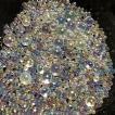 シャボン玉カラーのガラス玉 オーロラ ネイル レジン 封入 サイズmix AB ガラス粒 約700粒以上 つぶつぶ