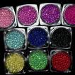 ガラス玉10色セット サイズmix ネイル レジン ハンドメイド ガラスの粒 オーロラ AB クリアカラー 約700粒以上 つぶつぶ