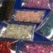 ガラス玉7色セット サイズmix 1.5〜4mm レジン封入 ハンドメイド ガラスの粒 オーロラ AB クリアカラー