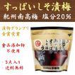 中田食品 昔なつかしい すっぱい しそ漬梅×3点 紀州産南高梅 無添加 送料無料