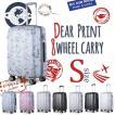 スーツケース 小型 軽量 sサイズ 40l プリント キャリーケース
