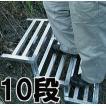 簡易連結式階段 キズナダンダン傾斜面用 10段 東洋鋼業