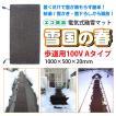 融雪マット 歩道用Aタイプ 単品 1000×500×20mm [雪国の春]